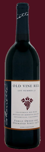 Marietta Cellars Old Vine Red Lot Number 51