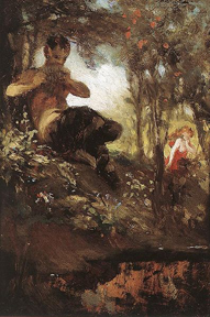 A Faun by Hungarian painter Pál Szinyei Merse
