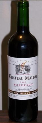 Chateau Malbat Bordeaux 2006