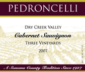 Pedroncelli Cabernet Sauvignon Dry Creek Valley Three Vineyards 2007