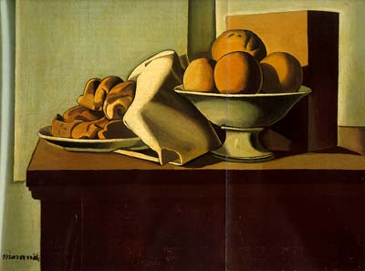 Giorgio Morandi Still Life with Bread and Fruit 1919