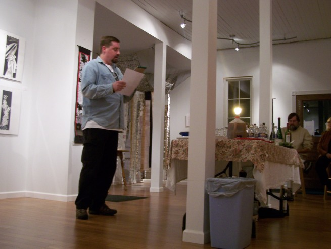 Tom Holmes Reading a Long Poem