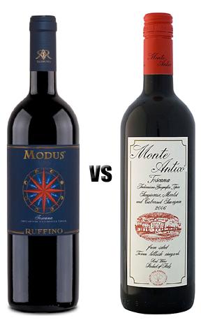Ruffino Modus Toscana 2007 vs Monte Antico Toscana 2006
