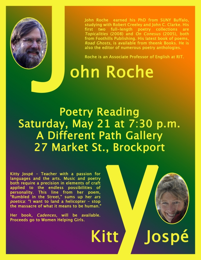 Roche Jospé Poetry Reading Poster