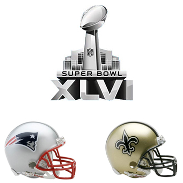 Patriots vs Saints SuperBowl XLVI