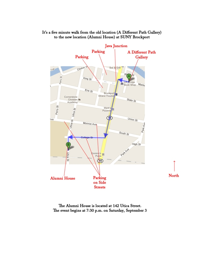 Map to Alumni House