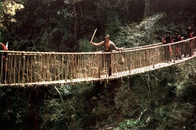 Indiana Jones and a Rope Bridge