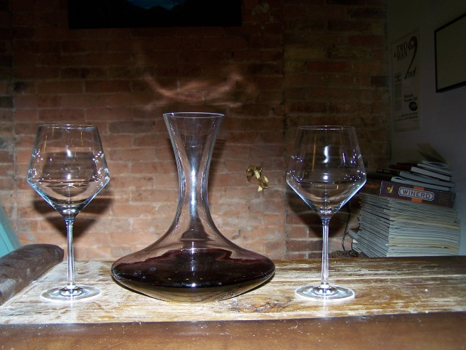Decanter and Tour Glasses