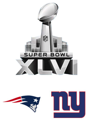 Super Bowl XLVI Giants vs Patriots