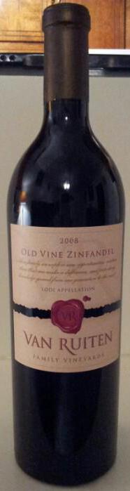 Van Ruiten Old Vine Zinfandel 2008 Lodi Appellation