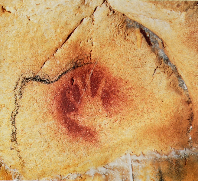 Negative Red Hand with Dupuytren's Contracture from Chauvet Cave (large)