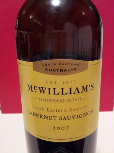 McWilliam's Hanwood Estates Cabernet Sauvignon 2007