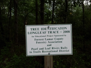 Trail Identification Longleaf Trace 2008